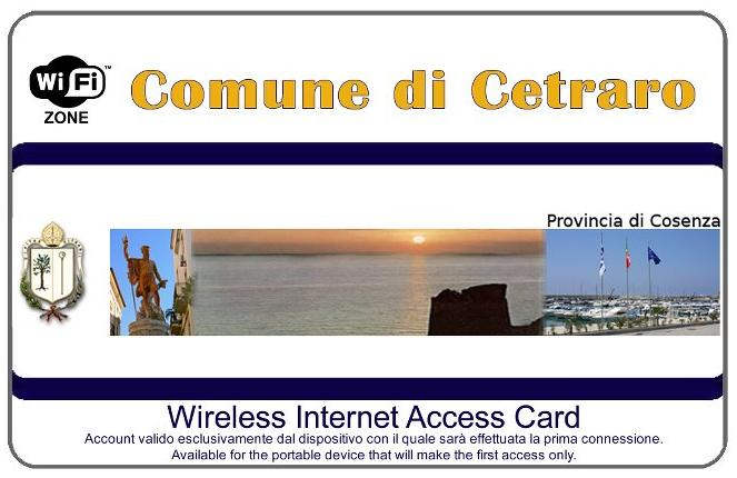 Cetraro Wireless Internet Access Card
