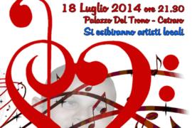 Concerto per Gabriele, 18 luglio ore 21.30, giardini di Palazzo Del Trono