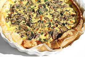 Torta salata con funghi porcini e patate