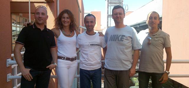 Da sinistra a destra Agostino,Forestiero, Ivana Pellegrino, Carlo Mastroianni, Giuseppe Papuzzo e Raffaele Giordanelli