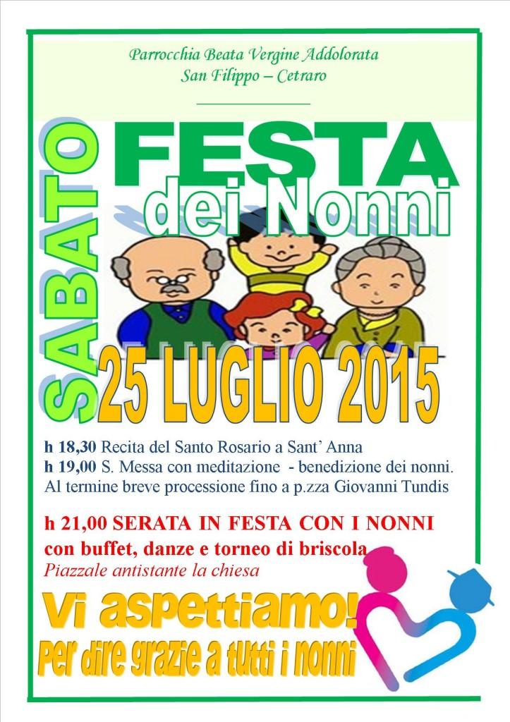 Calendario Festa Dei Nonni.Festa Di Sant Anna E Festa Dei Nonni A San Filippo I