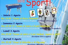Quarta edizione della Settimana dello Sport