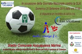 VIII° Giornata Nazionale sulla Sla: il Centro Clinico San Vitaliano sfida l'Associazione Medici Cosenza Calcio FC