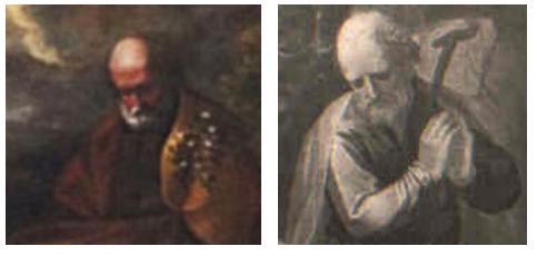 A sinistra: Cosenza - Chiesa di s. Gaetano S. Giuseppe A destra: Mercato antiquario Adorazione dei pastori Particolare
