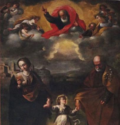 Cosenza – Chiesa di s. Gaetano – Sacra Famiglia – Particolare