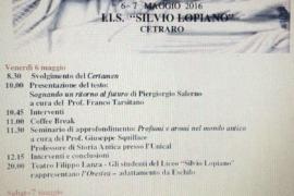 V edizione del Certamen Latinum Citrariense: 6 e 7 maggio 2016. Il programma completo