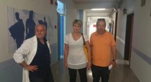 Dalila Nesci (M5S) in visita all'ospedale di Cetraro