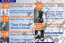 Eventi a Cetraro: dal 16 agosto a 2 settembre