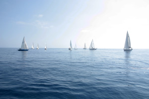foto imbarcazioni alla partenza