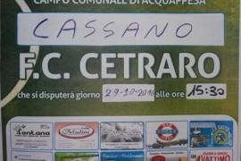 Calcio: oggi Cassano Vs. F.C. Cetraro