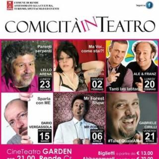 Attesa a Rende per le serate di Comicità in teatro