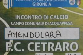 Amendolara – F.C. Cetraro, domani alle 14.30