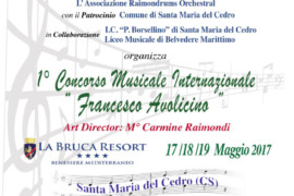 """Primo Concorso Musicale Internazionale """"Francesco Avolicino"""": sabato la presentazione"""
