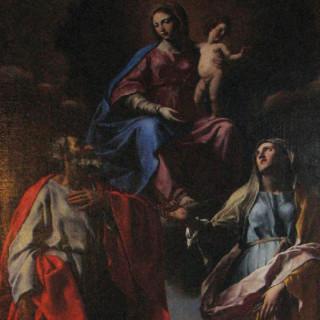 Francesco Cozza nella chiesa di s. Egidio a Montalcino