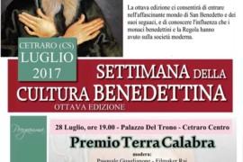Premio Terra Calabra al prof. Antonio Scarcello: venerdì 28 luglio 2017