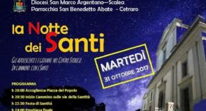 """Cetraro, """"La notte dei Santi: 31 ottobre 2017"""