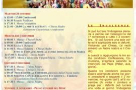 Festa di Tutti i Santi e Commemorazione dei Fedeli Defunti