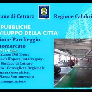 Martedì l'inaugurazione del parcheggio di piazza sottomercato