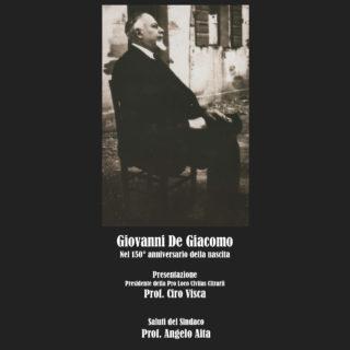 """Pro Loco """"Civitas Citrarii"""": commemorazione di Giovanni De Giacomo"""
