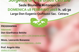 Sorgente di Vita Onluns inaugura una nuova sede a Cetraro