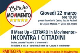"""Il Meet Up """"Cetraro in Movimento"""" incontra i cittadini"""