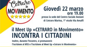 "Il Meet Up ""Cetraro in Movimento"" incontra i cittadini"