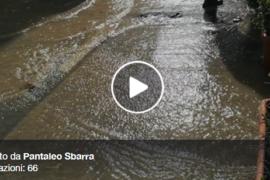 Cetraro Marina sotto l'acqua… il VIDEO