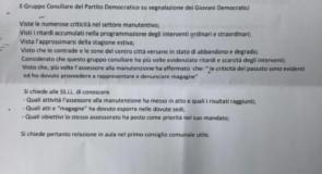 Manutenzione: il PD presenta due interrogazioni consiliari