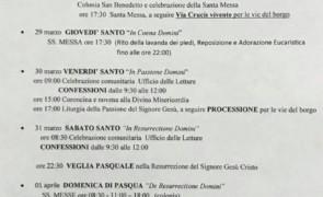 Programma della Settimana Santa 2018