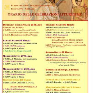Cetraro, Calendario delle Celebrazioni – San Filippo