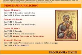 Festa di San Giuseppe: il Programma