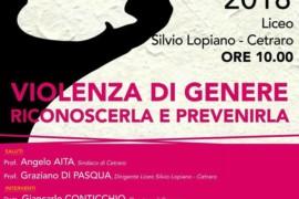 Violenza di Genere, riconoscerla e prevenirla: il convegno – 24 aprile 2018