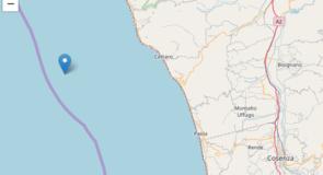 Scossa di terremoto a largo di Cetraro