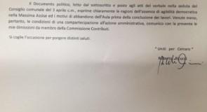 Roberto Ricucci si dimette dalla Commissione Contributi