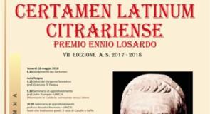 Certamen Latinum Citrariense – Premio Ennio Losardo, VII edizione